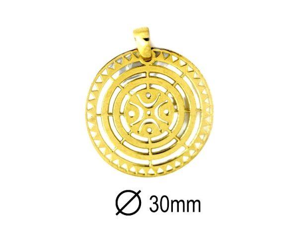 Medalla Estela de Cantabria 30 mm Dorada