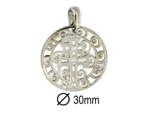 Medalla Cruz Caravaca Plata 30 mm