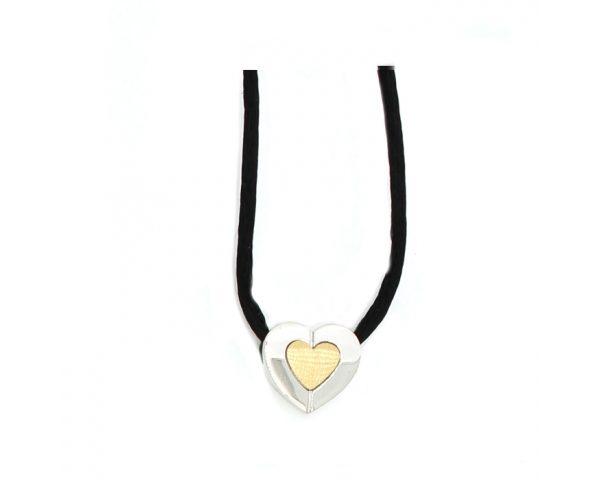 Colgante Corazón Oro-Plata Finor