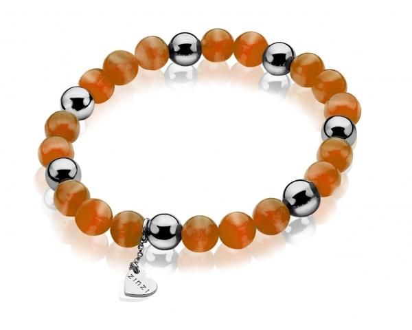 1bececfaf727 Pulsera naranja plata