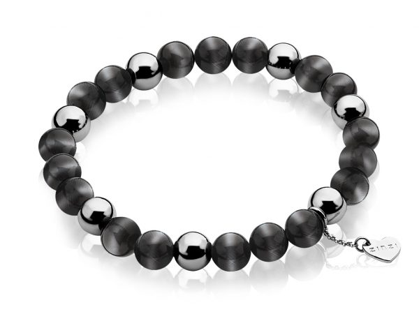 Pulsera Zinzi Perlas Negras