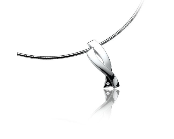 Colgante con Collar Plata y Diamante Zinzi