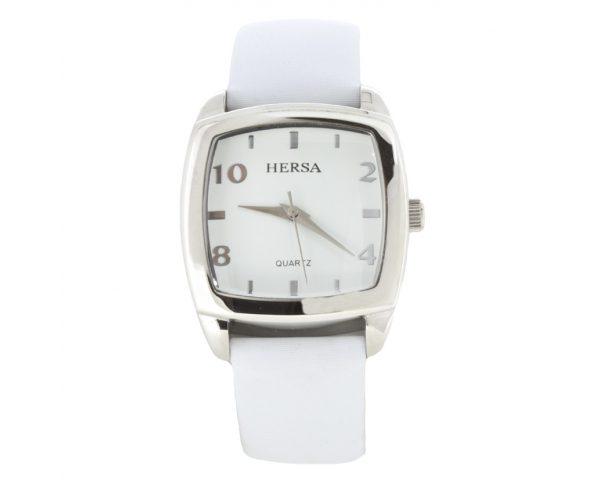 Reloj Hersa correa blanca