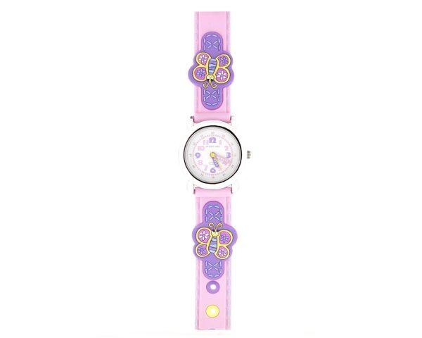 Reloj infantil mariposas