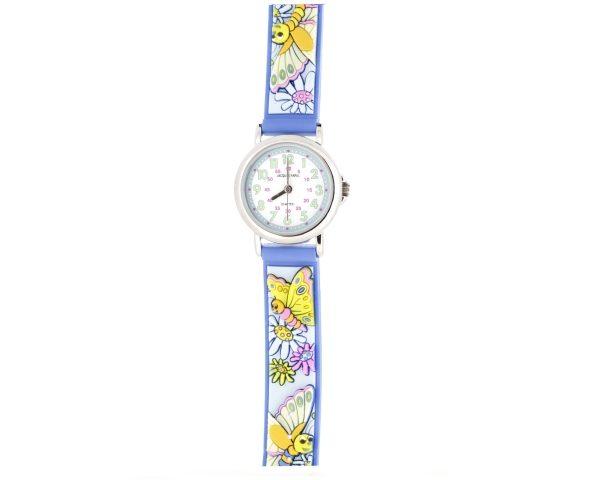 Reloj infantl mariposas