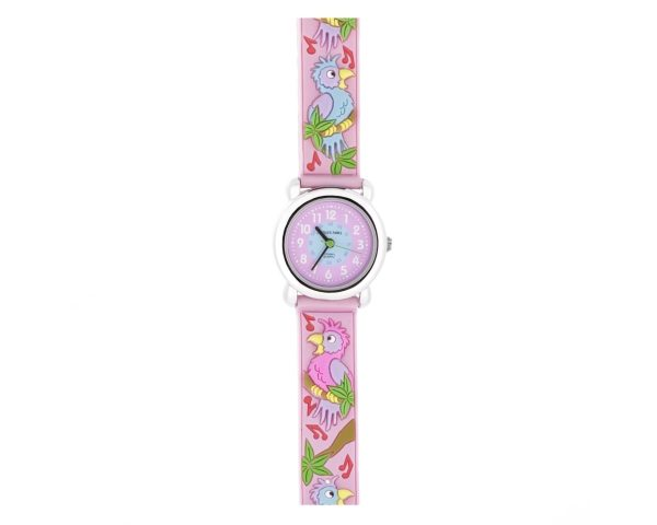 Reloj loros rosa