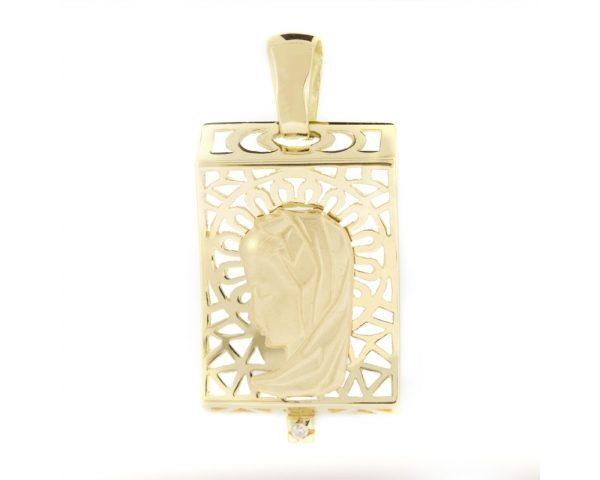 Medalla oro bicolor y diamante