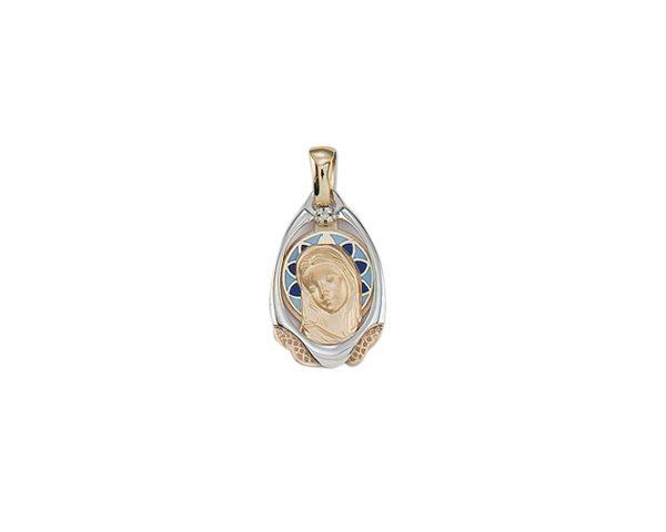 Medalla Virgen esmaltada