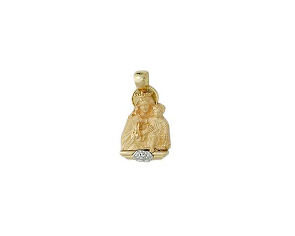 Medalla Virgen del Carmen oro y brillante