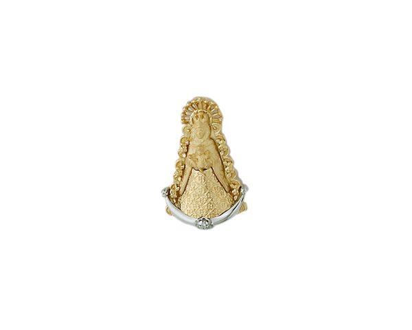 Medalla Virgen del Rocio con diamante