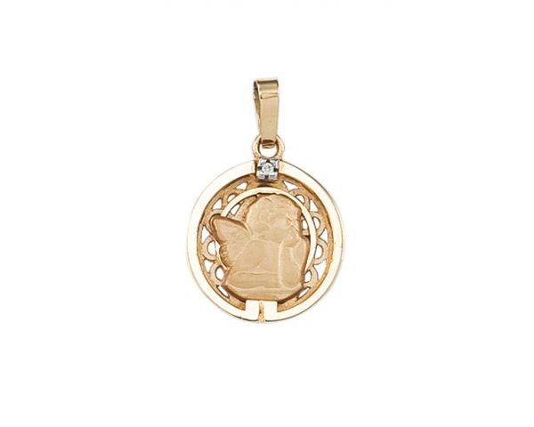 Medalla oro y brillante