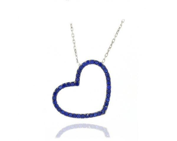 Gargantilla corazón azul