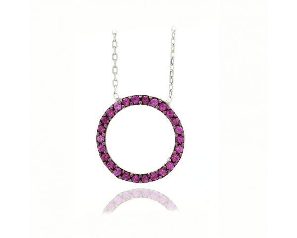 Gargantilla círculo rosa