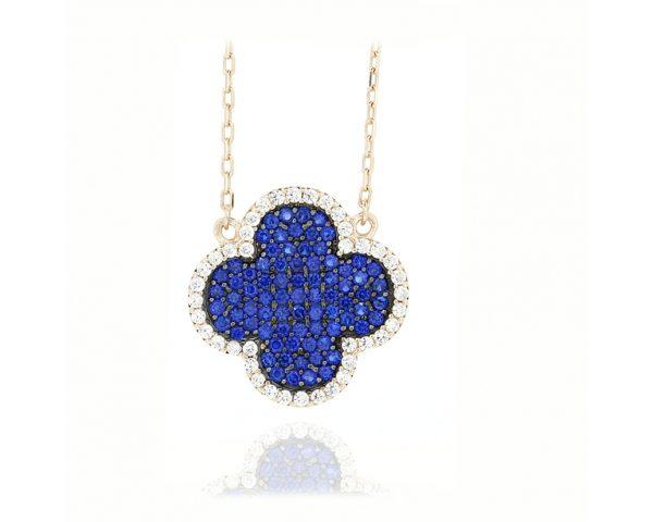 Gargantilla flor azul