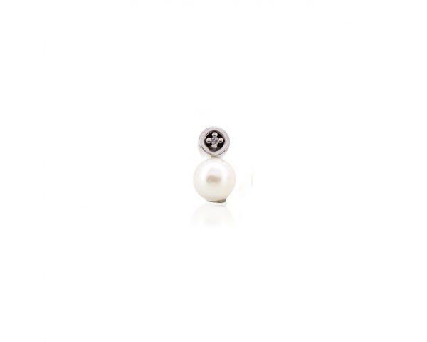 Colgante plata, perla y diamante